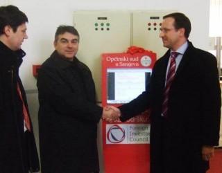 FIC donated Info Screen to the Municipal Court Sarajevo (February 2010)